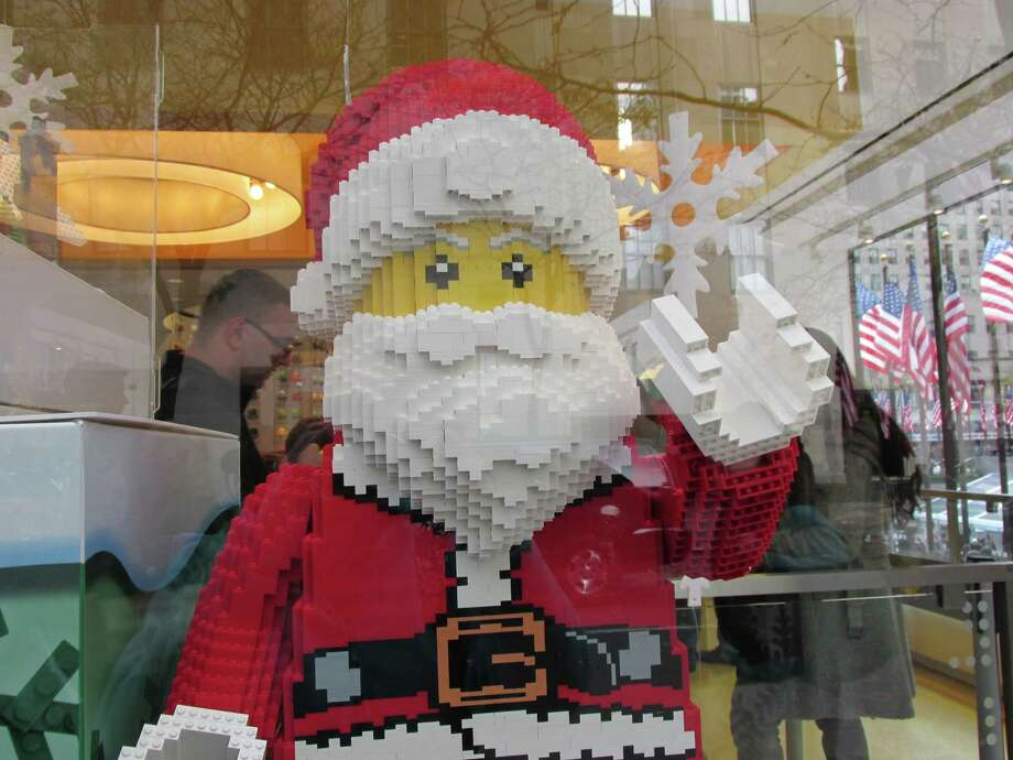 The Lego store at Rockefeller Center is ready for the holidays. Photo: Sarah Diodato