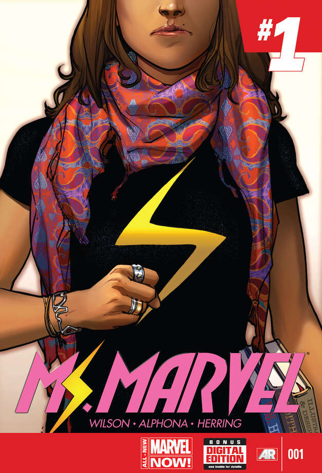 """The new Ms. Marvel series, whose first issue cover is seen here, is part of Marvel Comics' """"Characters and Creators"""" initiative, which starts this month. Photo: Marvel Entertainment / Courtesy of Marvel Entertainment"""