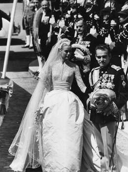 The wedding of Prince Rainier III of Monaco, Louis Henri Maxence Bertrand de Grimaldi, to American actress Grace Kelly, known thereafter as Princess Grace, 1956. Photo: Joseph McKeown, Getty Images