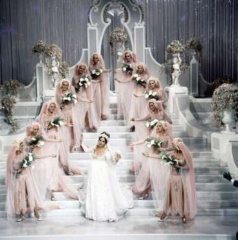 Barbra Streisand sings in a wedding dress in a scene from the film 'Funny Girl', 1968. Photo: Archive Photos, Getty Images