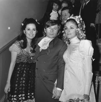 The wedding of Polish film director Roman Polanski and actress Sharon Tate (1943 - 1969) (right) at Chelsea Registry Office, London, 1968. She was subsequently murdered by members of Charles Manson's pseudo-religious sect The Family. Photo: Reg Burkett, Getty Images