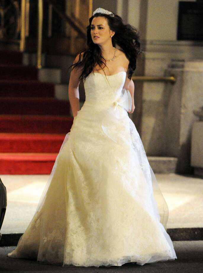 Leighton Meester films a scene from 'Gossip Girl'  in 2011. Photo: Arnaldo Magnani, Getty Images