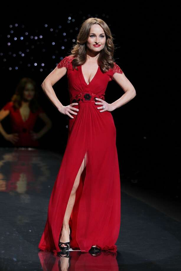 Celebrity chef Giada De Laurentiis wears Carolina Herrera as she participates in the Go Red For Women-The Heart Truth Red Dress Collection show during Fashion Week in New York. (AP Photo/Starpix, Amanda Schwab) Photo: Amanda Schwab, Associated Press