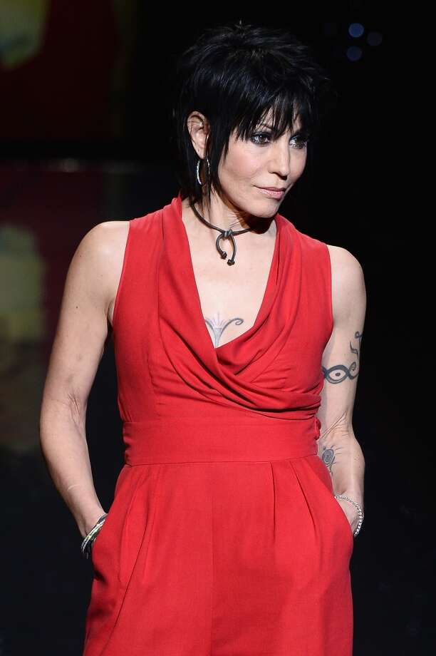 Joan Jett walks the runway wearing Catherine Malandrino at Go Red For Women - The Heart Truth Red Dress Collection 2014 Show Made Possible By Macy's And SUBWAY Restaurants  at The Theatre at Lincoln Center on February 6, 2014 in New York City. (Photo by Frazer Harrison/Getty Images for Mercedes-Benz) Photo: Frazer Harrison, Getty Images For Mercedes-Benz
