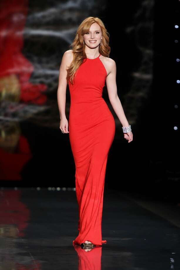 Bella Thorne wears Badgley Mischka as she participates in the Go Red For Women-The Heart Truth Red Dress Collection show during Fashion Week in New York. (AP Photo/Starpix, Amanda Schwab) Photo: Amanda Schwab, Associated Press