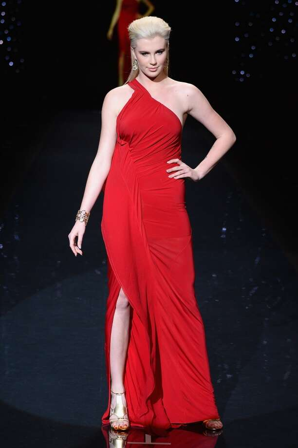 Ireland Baldwin, wearing Donna Karen, walks the runway at Go Red For Women - The Heart Truth Red Dress Collection 2014 Show Made Possible By Macy's And SUBWAY Restaurants  at The Theatre at Lincoln Center on February 6, 2014 in New York City.  (Photo by Frazer Harrison/Getty Images for Mercedes-Benz) Photo: Frazer Harrison, Getty Images For Mercedes-Benz