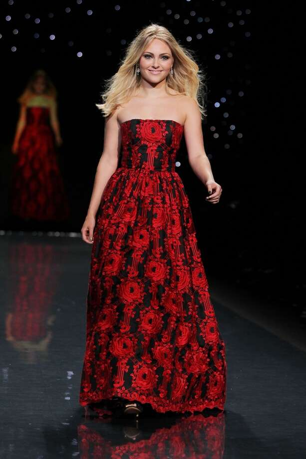 Actress AnnaSophia Robb wears Alice + Olivia as she participates in the Go Red For Women-The Heart Truth Red Dress Collection show during Fashion Week in New York. (AP Photo/Starpix, Amanda Schwab) Photo: Amanda Schwab, Associated Press