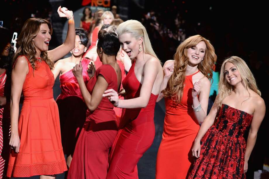 Thea Andrews, Alicia Quarles, Ireland Baldwin, Bella Thorne and AnnaSophia Robb walk the runway at Go Red For Women - The Heart Truth Red Dress Collection 2014 Show Made Possible By Macy's And SUBWAY Restaurants  at The Theatre at Lincoln Center on February 6, 2014 in New York City. (Photo by Frazer Harrison/Getty Images for Mercedes-Benz) Photo: Frazer Harrison, Getty Images For Mercedes-Benz