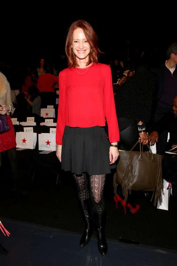 Valerie Jean Garduno attends Go Red For Women The Heart Truth Red Dress Collection fashion show during Mercedes-Benz Fashion Week at The Theatre at Lincoln Center on February 6, 2014 in New York City.  (Photo by Astrid Stawiarz/Getty Images) Photo: Astrid Stawiarz, Getty Images