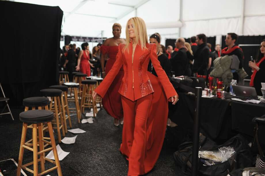 Actress Joan Van Ark backstage at Go Red For Women The Heart Truth Red Dress Collection 2014 Show Made Possible By Macy's And SUBWAY Restaurants at The Theatre at Lincoln Center on February 6, 2014 in New York City.  (Photo by Dimitrios Kambouris/Getty Images) Photo: Dimitrios Kambouris, Getty Images