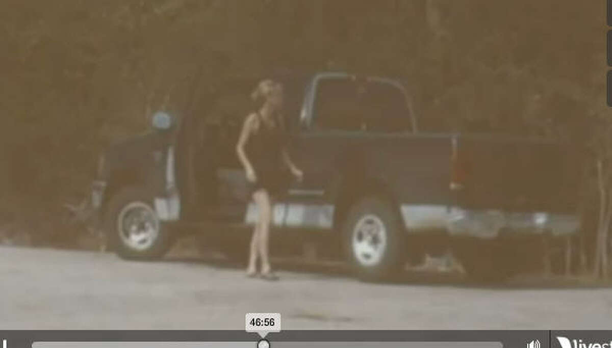 This photo from a Fort Bend County surveillance camera was shown at Amanda Hayes' murder trial in Raleigh, N.C.
