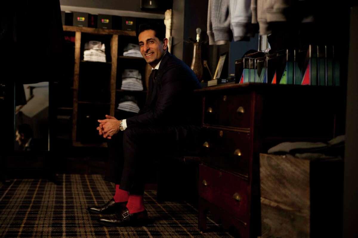 World renowned luxury sock designer Vivek Nagrani. He designed socks especially for