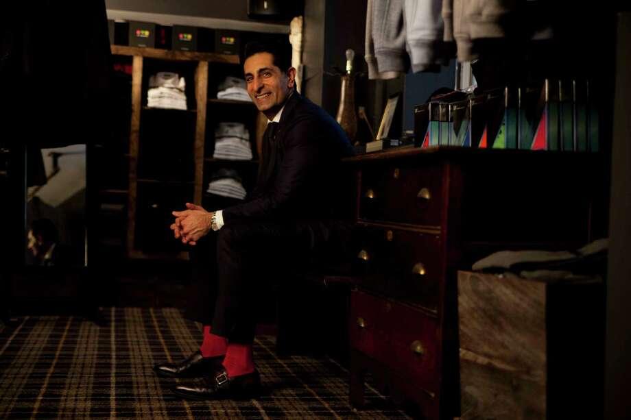 """World renowned luxury sock designer Vivek Nagrani. He designed socks especially for """"Men Dress for Dinner: Sox, Love and Rock & Roll Fashion with Vivek Nagrani,"""" a fundraiser for Recipe for Success on Feb. 11 at M Penner, Houston. Photo: VK Nagrani / VK Nagrani"""