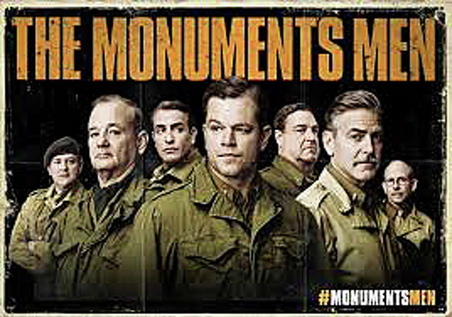 """The Monuments Men"" stars George Clooney and Matt Damon in the story of a World War II unit charged with saving timeless works of art from the Nazis. Photo: Contributed Photo / Westport News contributed"