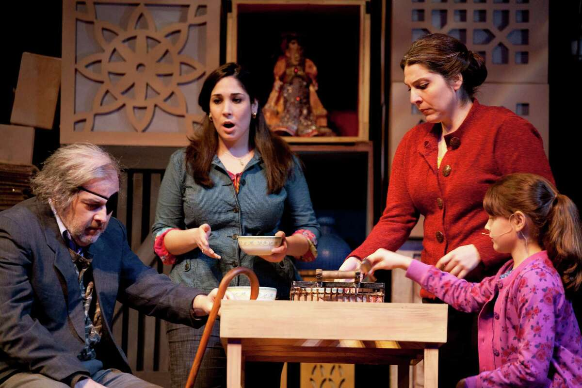 """""""The Bricklayer,"""" a work from Houston Grand Opera's Song of Houston series, depicts a family from Iran."""