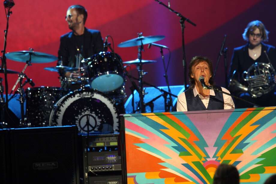 "On the 50th anniversary of the band's iconic Ed Sullivan appearance, surviving Beatles members Paul McCartney and Ringo Starr reunite 7 p.m. CST Sunday on CBS for ""The Night that Changed America: A Grammy Salute to the Beatles."" See Paul and Ringo as they've appeared together through the years.