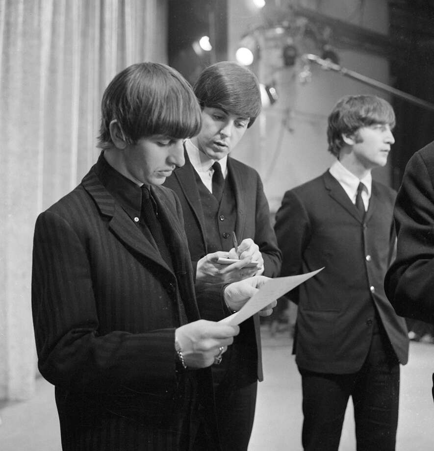 The Beatles at rehearsal the day before their first appearance on THE ED SULLIVAN SHOW. From left: Ringo Starr, Paul McCartney and John Lennon. Image dated February 8, 1964. (Photo by CBS via Getty Images) Photo: CBS Photo Archive, CBS Via Getty Images / 1964 CBS Photo Archive