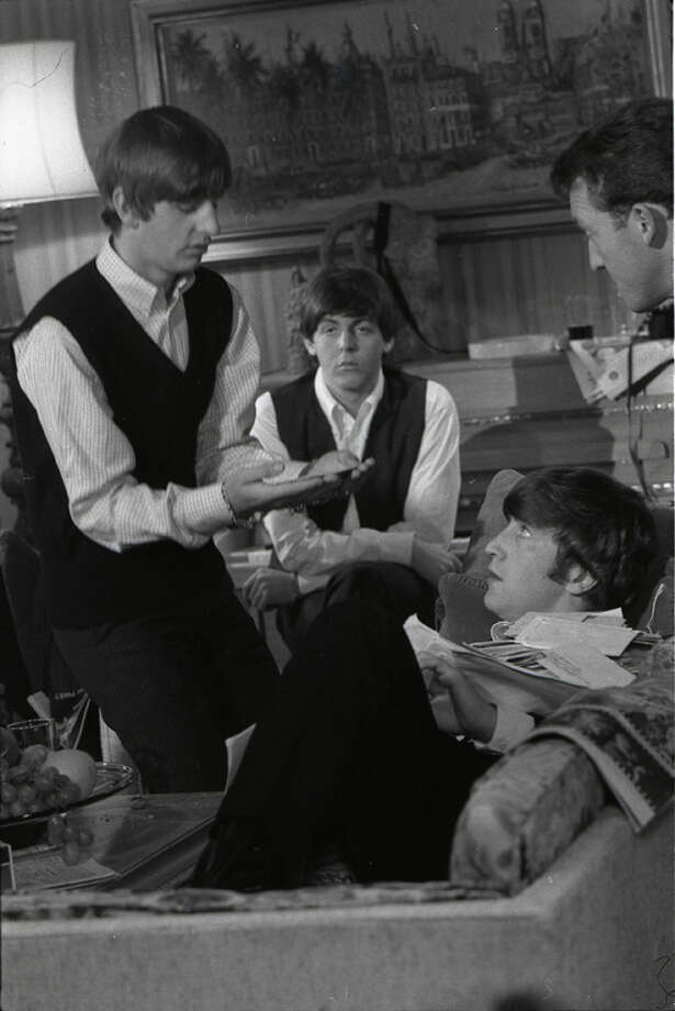 Ringo Starr, Paul McCartney, John Lennon & Norman Rossington in 1960.  (Photo by Max Scheler - K & K/Redferns) Photo: Max Scheler - K & K, Redferns / (c) Max Scheler