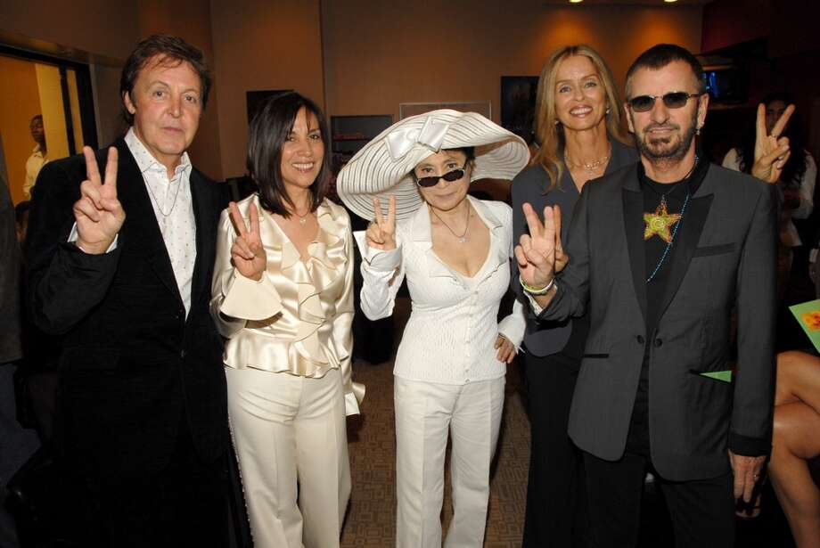 Sir Paul McCartney, Olivia Harrison, Yoko Ono, Barbara Bach and Ringo Starr *EXCLUSIVE* Photo by KMazur/WireImage) Photo: KMazur, WireImage