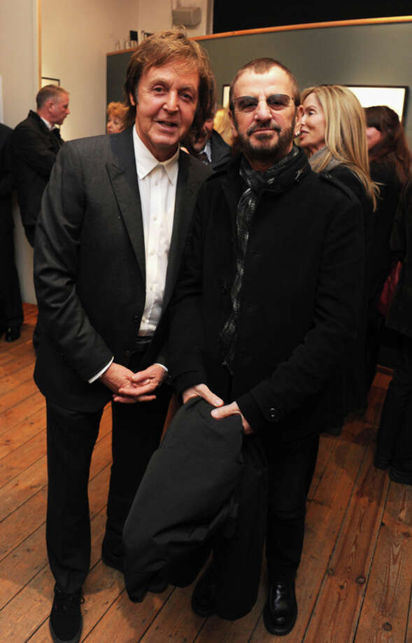 Sir Paul McCartney (L) and Ringo Starr attend the launch party for Mary McCartney's new book 'Mary McCartney: From Where I Stand' at Michael Hoppen Gallery on October 21, 2010 in London, England.  (Photo by Dave M. Benett/Getty Images) Photo: Dave M. Benett, Getty Images / 2010 Dave M. Benett