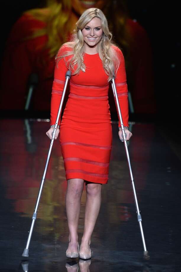 Lindsey Vonn walks the runway wearing Cynthia Rawley at Go Red For Women - The Heart Truth Red Dress Collection 2014 Show Made Possible By Macy's And SUBWAY Restaurants  at The Theatre at Lincoln Center on February 6, 2014 in New York City.  (Photo by Frazer Harrison/Getty Images for Mercedes-Benz) Photo: Frazer Harrison, Getty Images For Mercedes-Benz