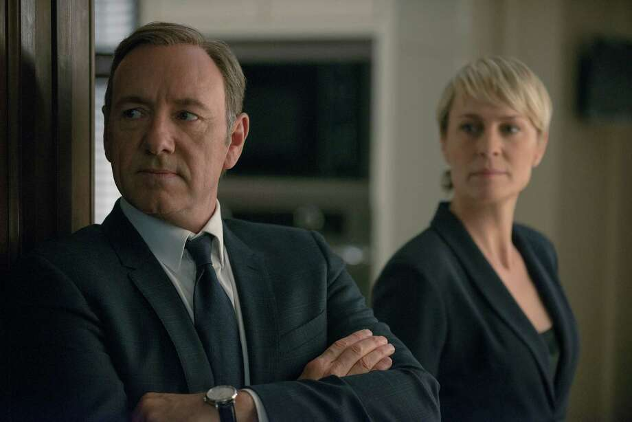 Kevin Spacey and Robin Wright return as the scheming vice president and his equally ambitious wife in Netflix's second season of the taut and darkly funny political drama, 'House of Cards.' Photo: Nathaniel E. Bell / Nathaniel E. Bell Photography