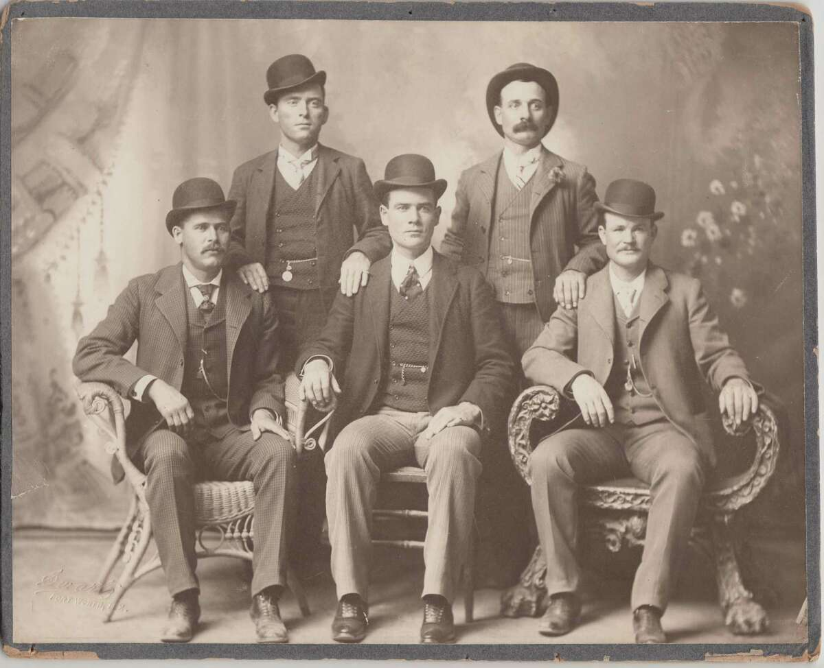 The Fort Worth Five were, from left, Harry Alonzo Longabaugh (the Sundance Kid), William Carver (News Carver), Benjamin Kilpatrick (the Tall Texan), Harvey Logan (Kid Curry) and Robert Leroy Parker (Butch Cassidy).