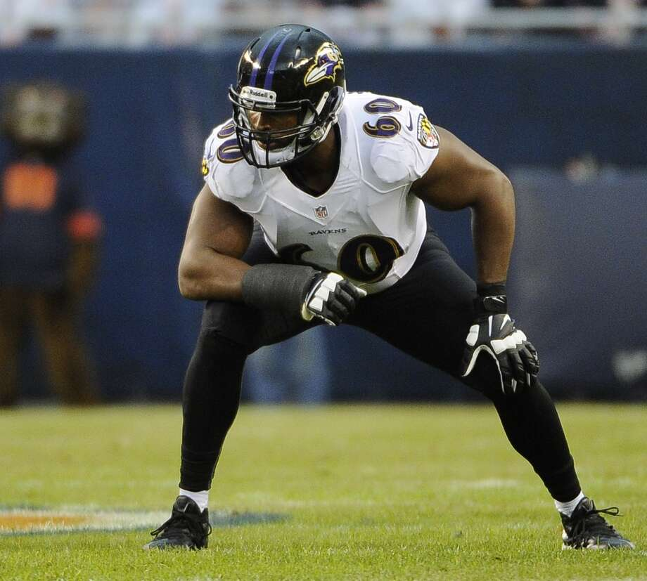 Eugene Monroe, LT, Baltimore Ravens 2013 stats: Monroe was part of an offensive line that allowed Ravens running backs to run for 1,328 yards and 7 TDs. They allowed 48 sacks on the season. Photo: David Banks, Getty Images