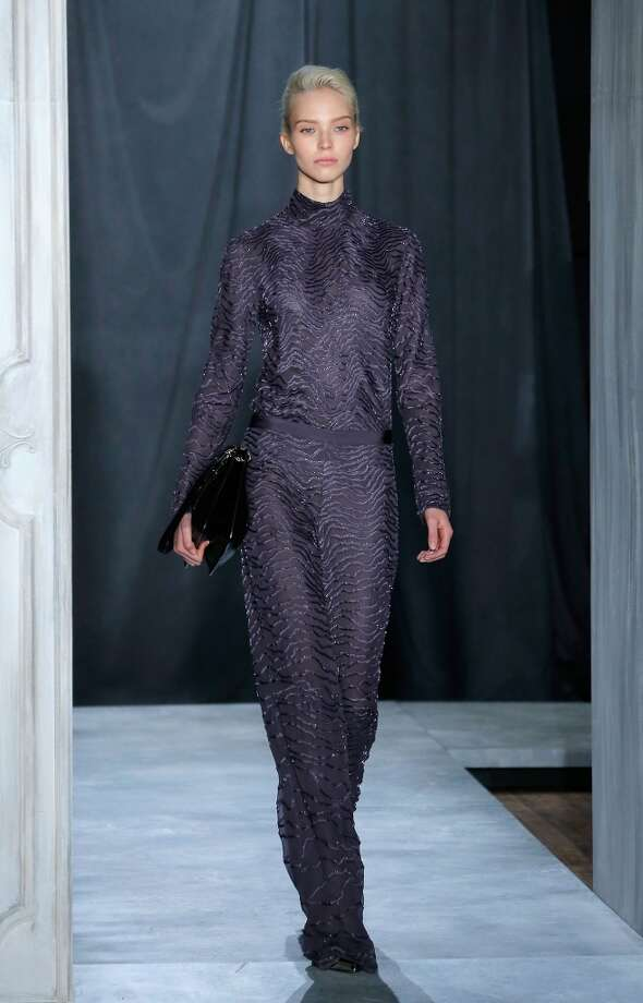 A model walks the runway at the Jason Wu Fall 2014 Runway show during Mercedes-Benz Fall 2014 Fashion Week on February 7, 2014 in New York City. Photo: Jemal Countess, Getty Images
