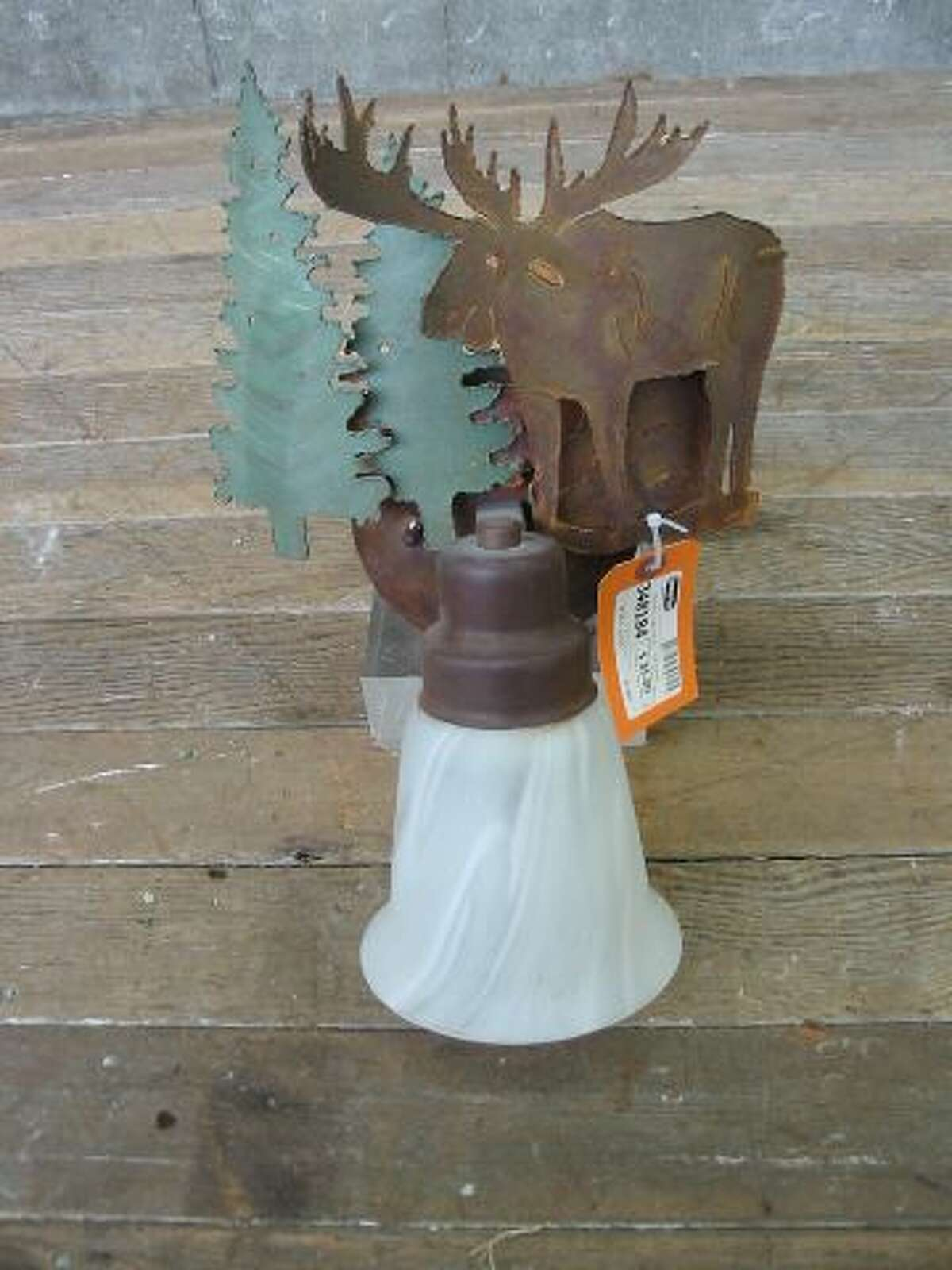 """""""Moose Wall Sconce ... Come on that's kinda cute."""" Price: $35, ON HOLD."""