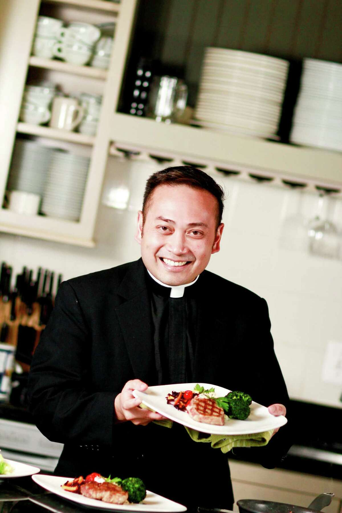 """St. Laurence Catholic Church, 3100 Sweetwater Blvd., will welcome the """"Cooking Priest"""" Father Leo Patalinghug as keynote speaker for Heart of Worship, from 11:30 a.m-9 p.m. March 1."""