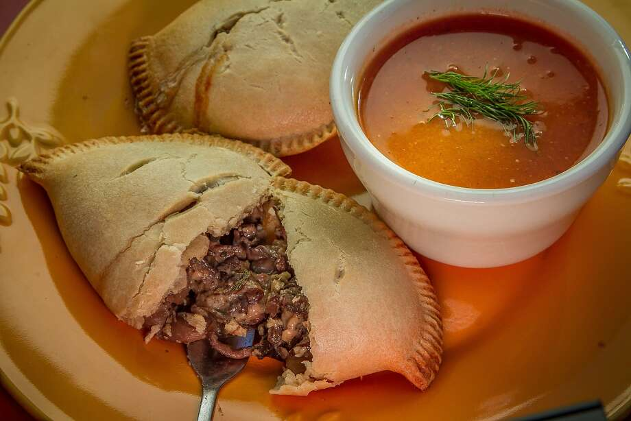 The mushroom and goat gouda meat pie ($4.95). Photo: John Storey
