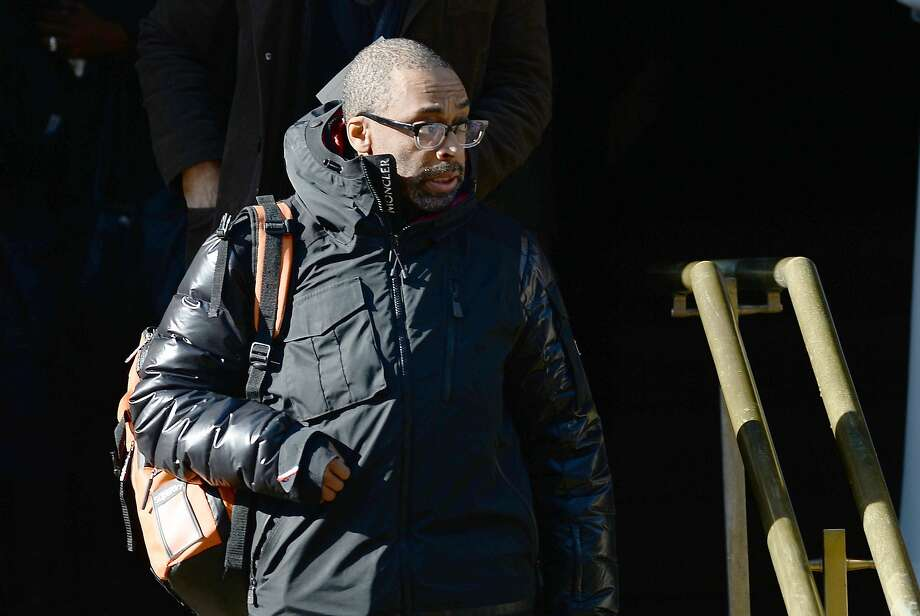 Actor and director Spike Lee leaves after attending Philip Seymour Hoffman's funeral at St. Ignatius of Loyola Church in New York, February 6, 2014.  Friends and relatives of Oscar-winning actor Philip Seymour Hoffman gathered in New York for his private funeral Friday, five days after he was found dead of a suspected overdose. The mass was closed to the public and press at the Church of  St. Ignatius Loyola on Park Avenue, which also held the 1994 funeral of Jacqueline Kennedy Onassis, the wife of assassinated US president John F. Kennedy. AFP PHOTO/Emmanuel DunandEMMANUEL DUNAND/AFP/Getty Images Photo: Emmanuel Dunand, AFP/Getty Images