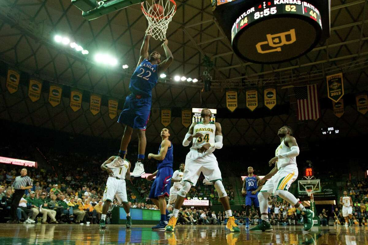 Andrew Wiggins (22) has helped lead Kansas to the top of the Big 12 standings.