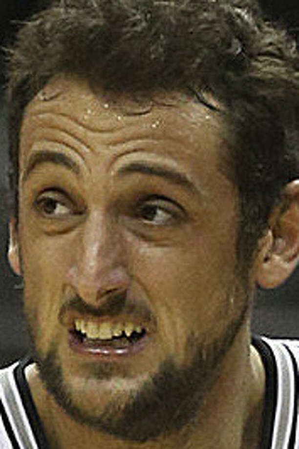 Marco Belinelli is fourth in the league at 44 percent from the arc but is 6 for 31 in his past 10 games. / ©2013 San Antonio Express-News