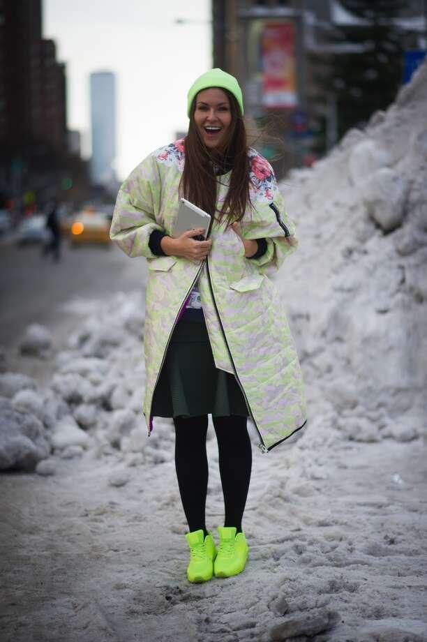 Yulia Kolyadina on the streets of Manhattan on February 6, 2014 in New York City.  (Photo by Timur Emek/Getty Images) Photo: Timur Emek, Getty Images