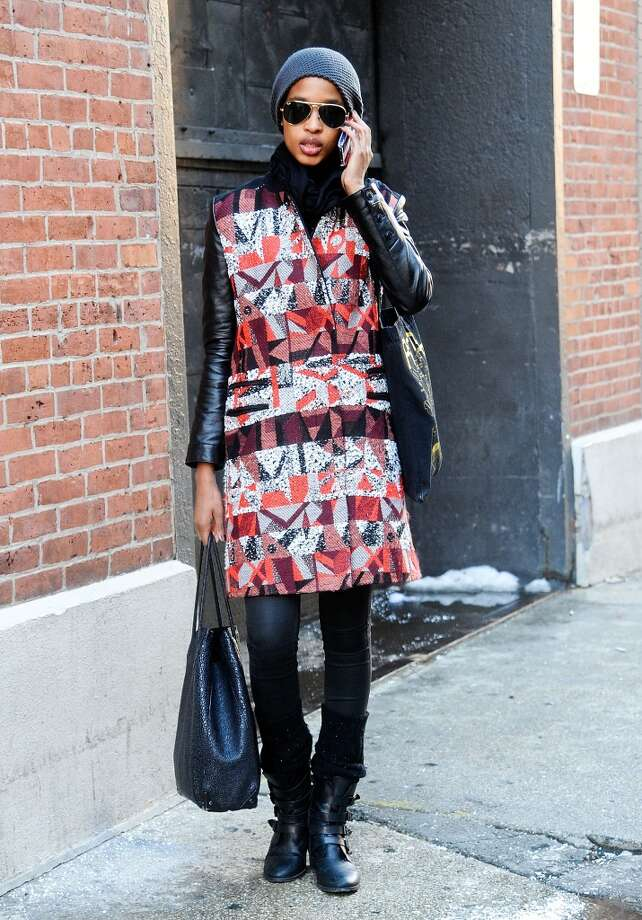 Marihenny is seen outside the Costello Tagliapietra show wearing a Creatures of the Wind coat on February 6, 2014 in New York City.  (Photo by Daniel Zuchnik/Getty Images) Photo: Daniel Zuchnik, Getty Images