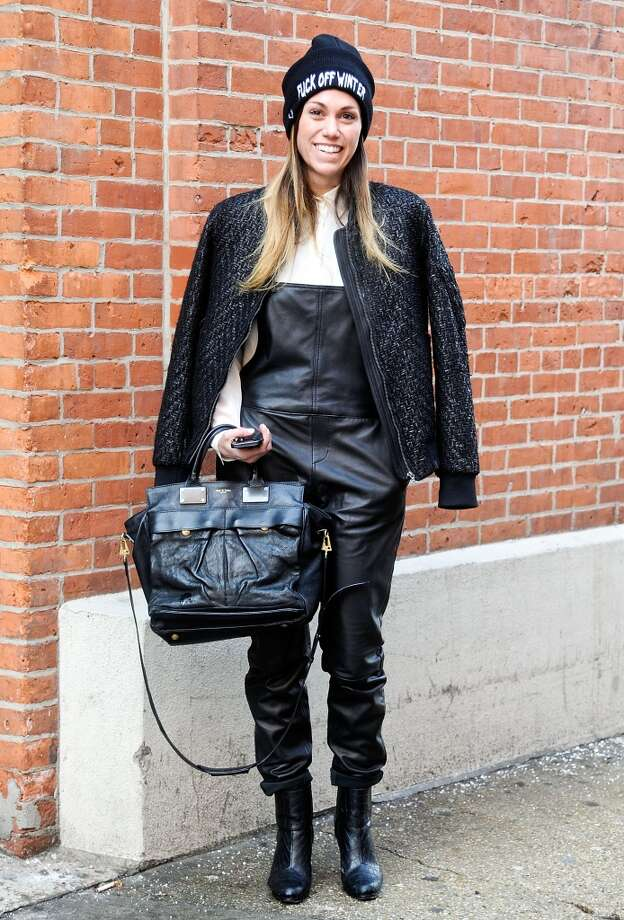 Rag and Bone buyer Kristin Gnall is seen outside the Costello Tagliapietra show wearing all Rag and Bone on February 6, 2014 in New York City.  (Photo by Daniel Zuchnik/Getty Images) Photo: Daniel Zuchnik, Getty Images