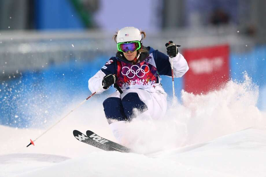 SOCHI, RUSSIA - FEBRUARY 06:  Hannah Kearney of the United States competes in the Ladies' Moguls Qualification during the Sochi 2014 Winter Olympics at Rosa Khutor Extreme Park on February 6, 2014 in Sochi, Russia.  (Photo by Cameron Spencer/Getty Images) Photo: Cameron Spencer, Getty Images