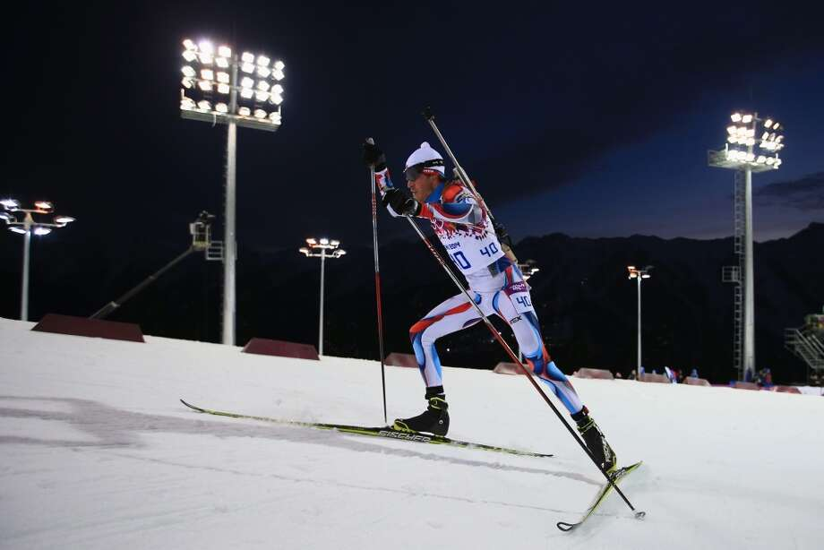 SOCHI, RUSSIA - FEBRUARY 08: Jaroslav Soukup of the Czech Republic competes in the Men's Sprint 10 km during day one of the Sochi 2014 Winter Olympics at Laura Cross-country Ski & Biathlon Center on February 8, 2014 in Sochi, Russia.  (Photo by Richard Heathcote/Getty Images) Photo: Richard Heathcote, Getty Images