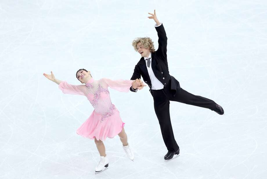 SOCHI, RUSSIA - FEBRUARY 08:  Meryl Davis and Charlie White of the United States compete in the Figure Skating Team Ice Dance - Short Dance during day one of the Sochi 2014 Winter Olympics at Iceberg Skating Palace on February 8, 2014 in Sochi, Russia.  (Photo by Matthew Stockman/Getty Images) Photo: Matthew Stockman, Getty Images