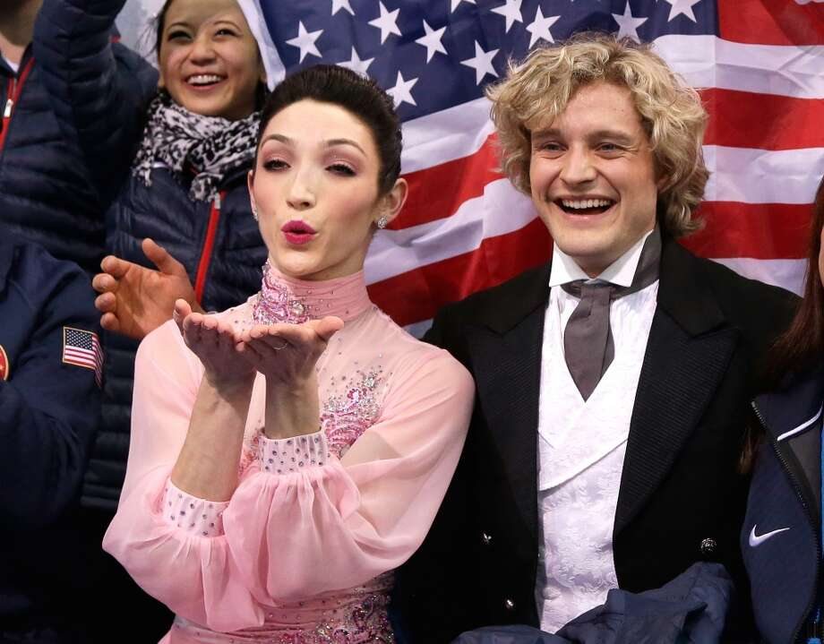 SOCHI, RUSSIA - FEBRUARY 08:  Meryl Davis and Charlie White of the United States wait for their score during the Figure Skating Team Ice Dance - Short Dance during day one of the Sochi 2014 Winter Olympics at Iceberg Skating Palace on February 8, 2014 in Sochi, Russia.  (Photo by Darren Cummings/Pool/Getty Images) Photo: Getty Images