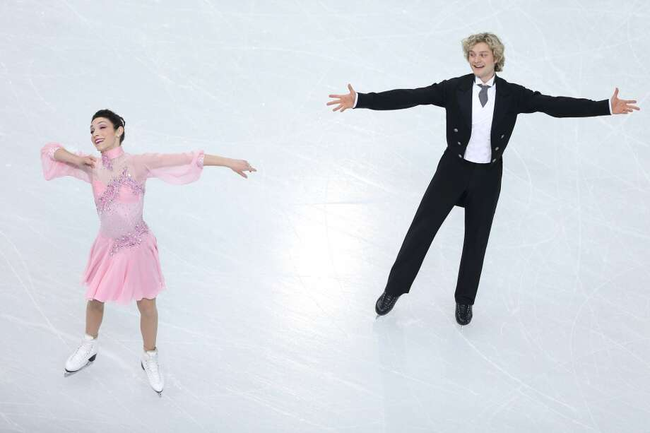 SOCHI, RUSSIA - FEBRUARY 08:  Meryl Davis and Charlie White of the United States compete in the Figure Skating Team Ice Dance - Short Dance during day one of the Sochi 2014 Winter Olympics at Iceberg Skating Palace on February 8, 2014 in Sochi, Russia.  (Photo by Matthew Stockman/Getty Images) Photo: Getty Images