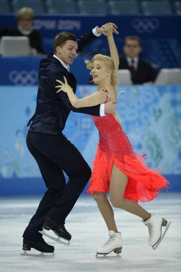 Russia's Ekaterina Bobrova and Russia's Dmitri Soloviev perform in the Figure Skating Team Ice Dance Short Dance at the Iceberg Skating Palace during the Sochi Winter Olympics on February 8, 2014.    AFP PHOTO / ALEXANDER NEMENOVALEXANDER NEMENOV/AFP/Getty Images Photo: AFP/Getty Images