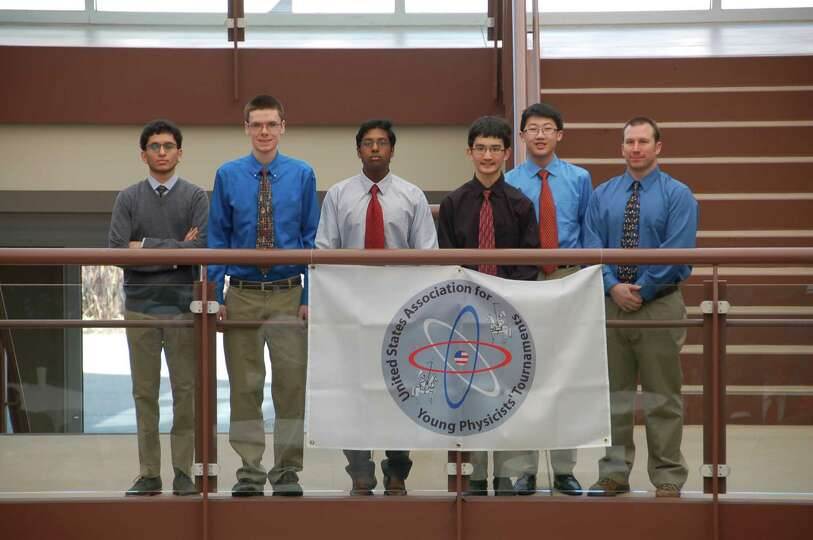 A team of student physicists from Guilderland High School competed at The Harker School in San Jose,