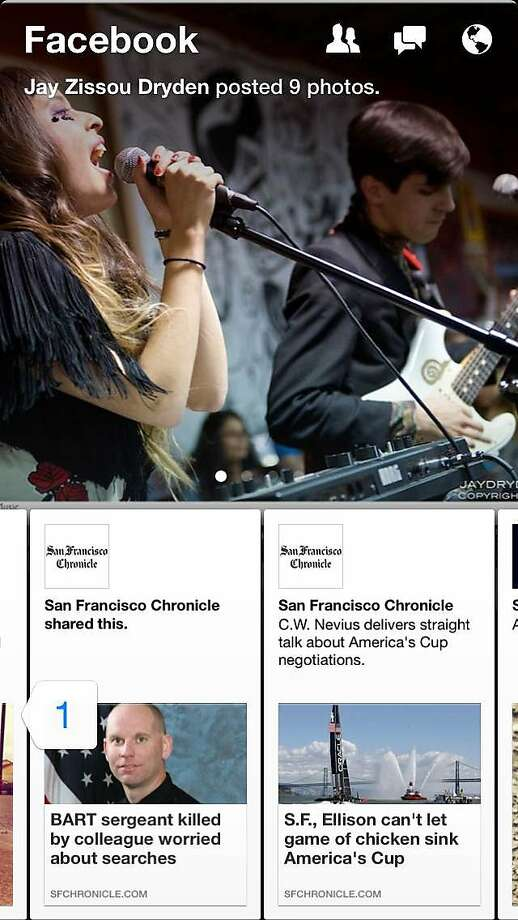 Facebook Paper is their latest mobile app which allows users to view their news feed with the full mobile experience with full screen images and gestures. Photo: Facebook
