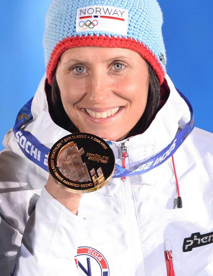 Norway's Marit Bjoergen won the 15-kilometer skiathlon. Photo: Andrej Isakovic, AFP/Getty Images