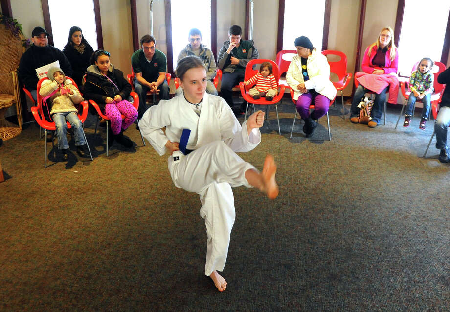 A karate demonstration by martial artist Allie Miller is held at the Asian New Year Celebration at Beardsley Zoo in Bridgeport, Conn. on Saturday February 8, 2014. 2014 marks the Year of the Horse. Photo: Christian Abraham / Connecticut Post