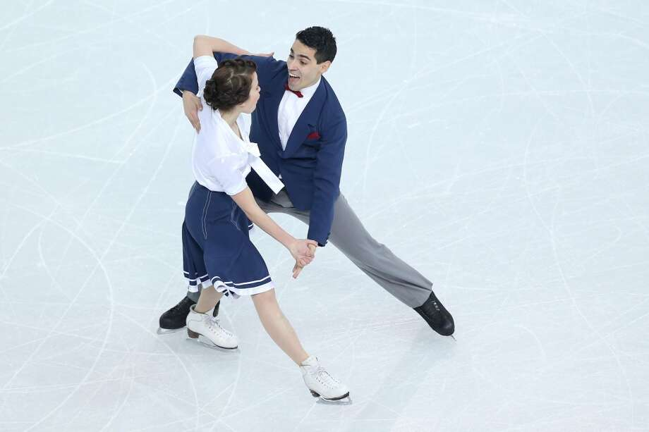 SOCHI, RUSSIA - FEBRUARY 08:  Anna Cappellini and Luca Lanotte of Italy compete in the Figure Skating Team Ice Dance - Short Dance during day one of the Sochi 2014 Winter Olympics at Iceberg Skating Palace on February 8, 2014 in Sochi, Russia.  (Photo by Matthew Stockman/Getty Images) Photo: Getty Images