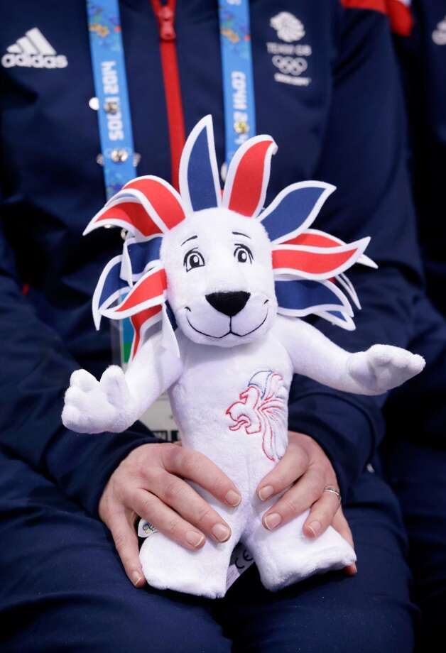 SOCHI, RUSSIA - FEBRUARY 08: A member of Team GB holds a stuffed version of their mascot Pride during the Figure Skating Team Ice Dance - Short Dance during day one of the Sochi 2014 Winter Olympics at Iceberg Skating Palace on February 8, 2014 in Sochi, Russia.  (Photo by Darren Cummings/Pool/Getty Images) Photo: Getty Images